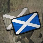 Gun Point Gear St Andrew's Cross Scottish Saltire Flag PVC Patch